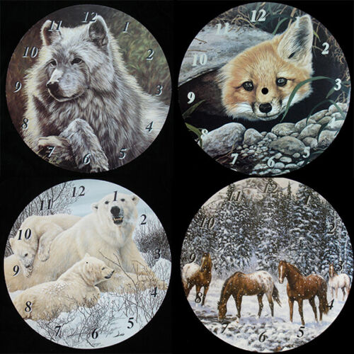 Fox Bear Wolf Horses Faces Clock Making New 9.5/'/' Wildlife Clock Dials