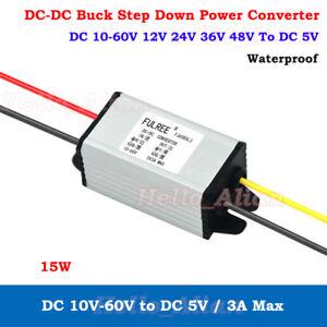 Waterproof-DC-DC-Buck-Step-Down-Regulator-10-60V-24V-to-5V-3A-Car-Volt-Converter
