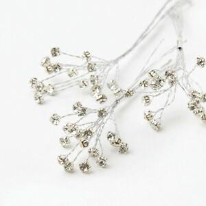Plata-Diamante-Spray-Ramos-de-Boda-Floristry-corsages-adiciones-Decorativo