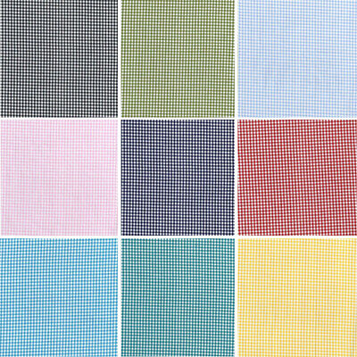 """sold per half metre Yarn Dyed 100/% cotton gingham 144 cm wide 56/"""""""