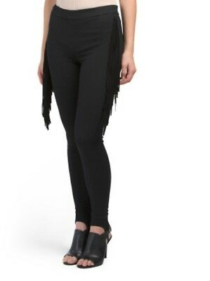 Mcguire Commodore Pants Black with Fringe Size 26
