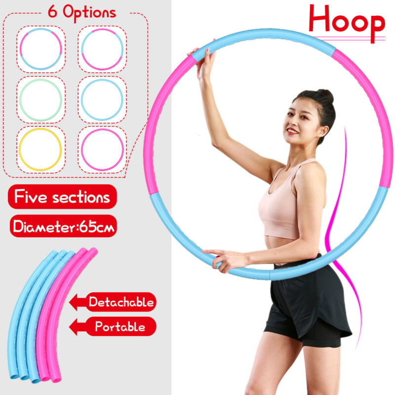 Detachable Weighted Gym Exercise Hoop Fitness Loose Weight Portable Adult Kids