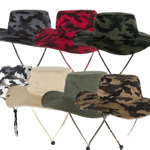 Bucket Hat Boonie Safari Fishing Outdoor Men Cap Wide brim Sun UV Cap Hat NEW
