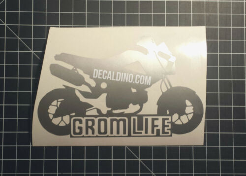 Sticker for Honda MSX125 wrap parts exhaust race carbon fiber Grom Life Decal