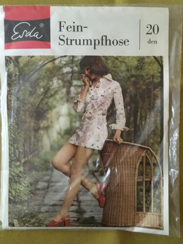 60er 70er Erda Feinstrumpfhose 20 Den Vintage 60s 70s Pantyhose Gr.40//42