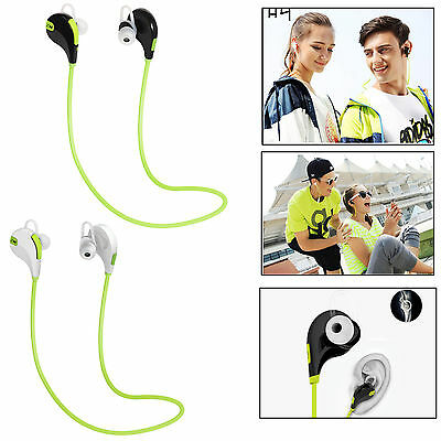 Wireless Bluetooth Sport Stereo With Mic Headset Headphone For iPhone Samsung LG