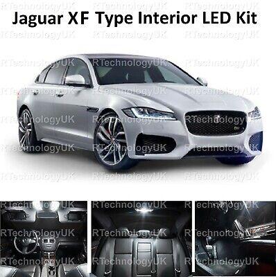 Premium Jaguar XF XFR 2008-2015 LED Blanco Interior Upgrade Kit Set Xenon