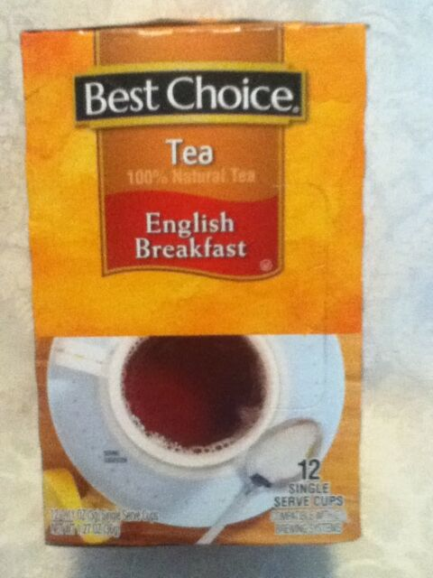BEST CHOICE Natural Black English Breakfast Tea 12 Single Serve Brew System Cups