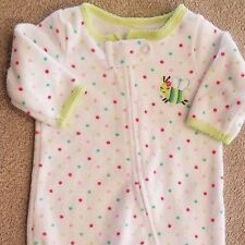 CARTER'S NEWBORN BEE TERRY CLOTH FOOTED SLEEP N PLAY OUTFIT ADORABLE! REBORN