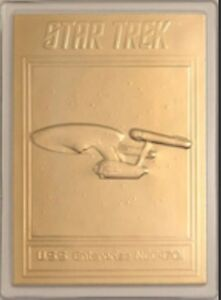 22KT-GOLD-STAR-TREK-TOS-TRADING-CARD-U-S-S-ENTERPRISE-NCC-1701