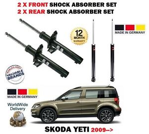 FOR-SKODA-YETI-4x4-TSI-TDI-2009-gt-2x-FRONT-2x-REAR-SHOCK-ABSORBER-SHOCKER-SET