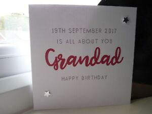 Handmade Th Birthday Cards Son ~ Handmade personalised male birthday card dad grandad son brother