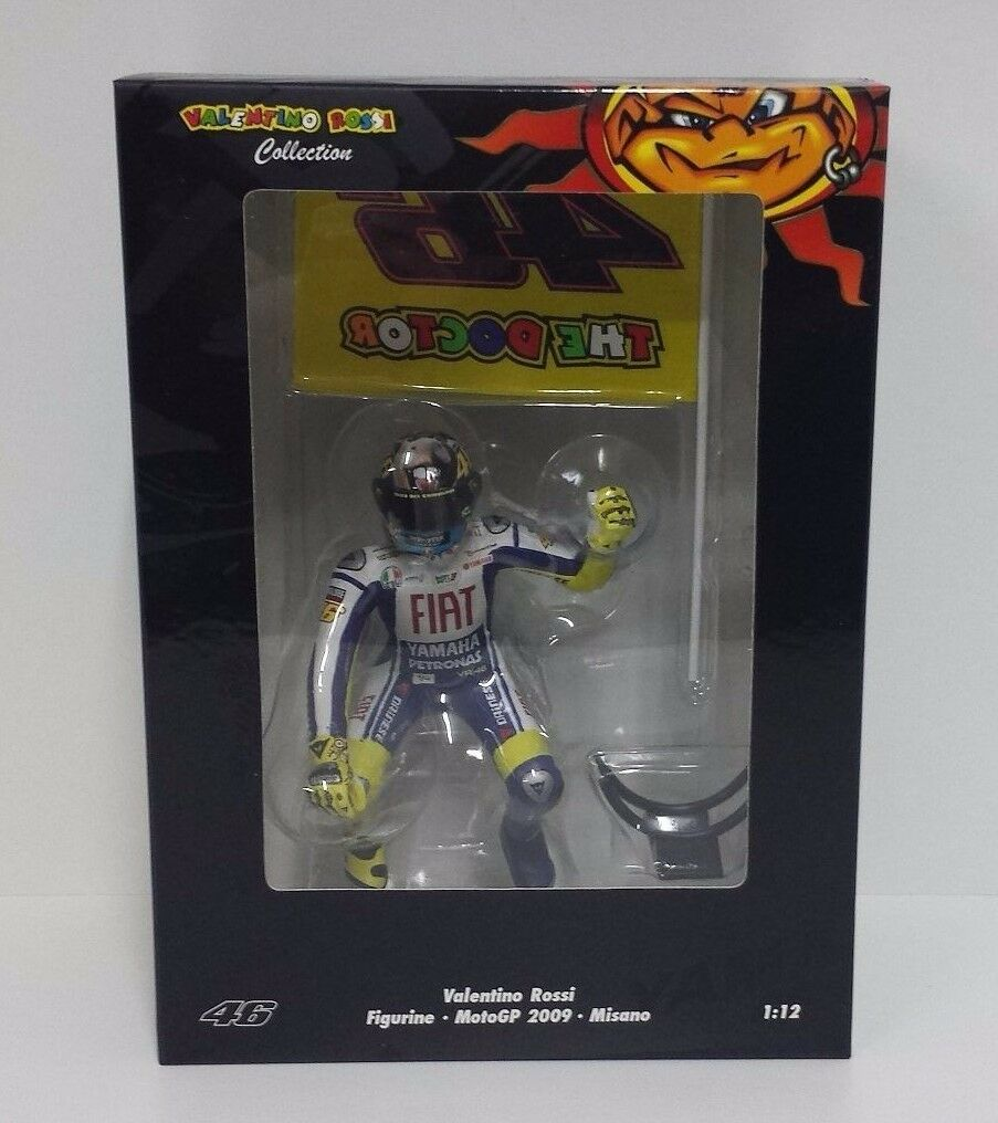 MINICHAMPS VALENTINO ROSSI 1 12 FIGURINO 2009 GP MISANO WITH FLAG L.E. 999 PCS