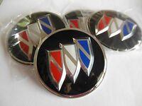 Buick Wheel Center Cap Emblems Set 4 Aluminum 2 1/2 Black Set Of 4