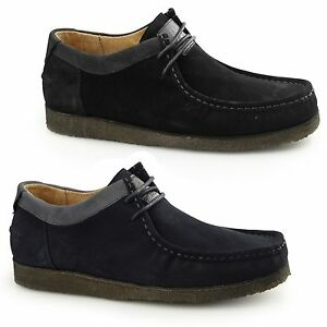 Hush Puppies Davenport Low Mens Suede Comfort Casual Lace Up Moccasin Shoes Ebay