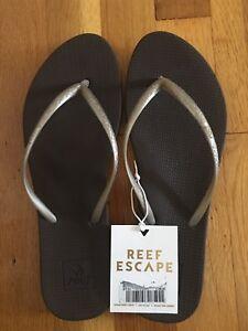 c5bfd0e91 Reef Escape Lux Women s Flip Flop Sandals Size 9 Brown UK 7 EUR 40 ...