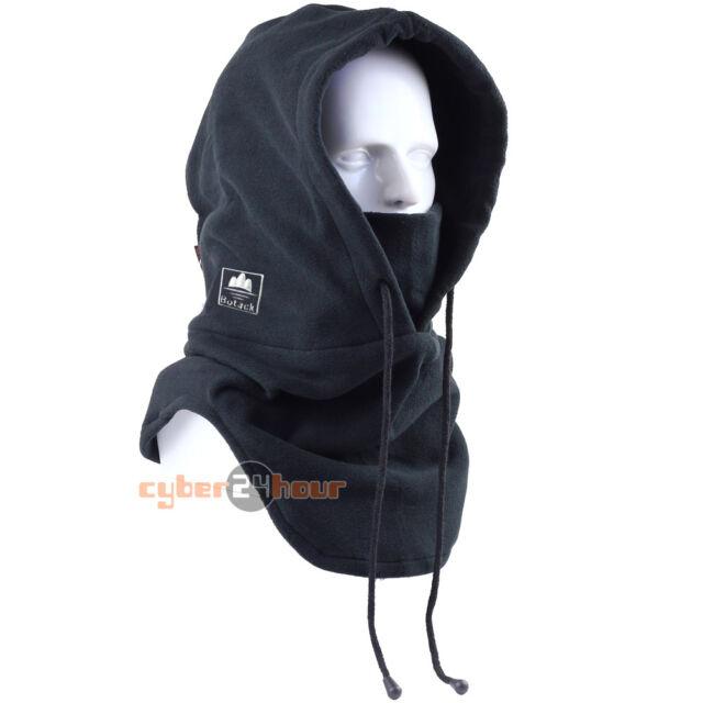 New Black Thermal Balaclava Full Face Outdoor Hood Swat Ski Mask Neck Warmers