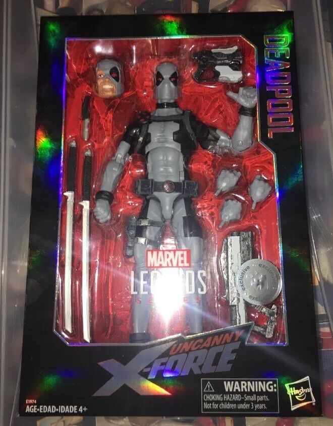 MARVEL LEGENDS UNCANNY X-FORCE GREY DEADPOOL 12  FIGURE TRU EXCLUSIVE IN HAND