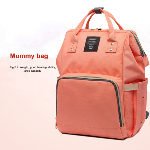 LEQUEEN Mummy Maternity Nappy Bag Baby Care Backpack Nursing Bag Pack Useful New
