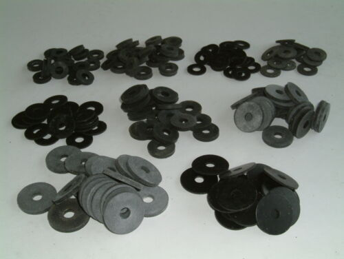 Choose from 11 different sizes and various quantities M6 Rubber Washers