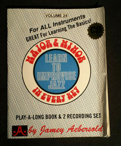 Major /& Minor In Every Key Book /& CD Set Vol Learn To Improvise Jazz 24