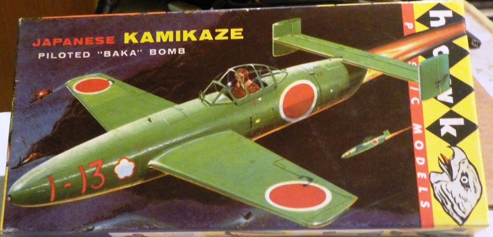 VINTAGE [1958] HAWK KAMIKAZI BAKA [=OKHA] 1 48 W 1 REAL ISSUE BUT REPRO DECALS