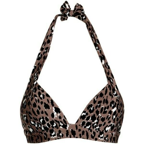 John Lewis New Animal Print Underwired Bikini Top Sizes 32D 32E 38D
