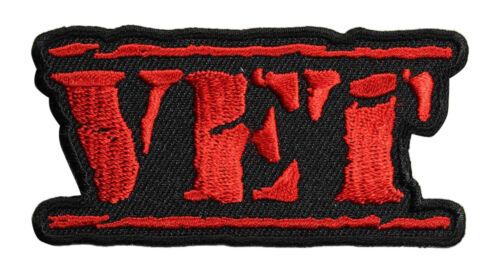 Vet Old Stamper Embroidered Iron On Patch Biker Military Veteran 049-G