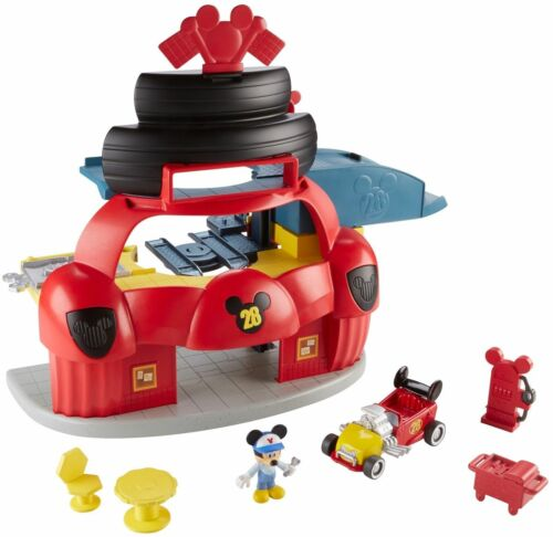Fisher-Price Disney Jr Mickey Mouse Roadster Racers Garage New