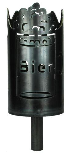 Set mit Stiel und Wachsrollen Gartenfackel Bier Biergarten Fackel