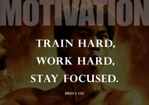 Bruce Lee 4 Kung-Fu Wise Quote Motivational Photo Training Inspirational Poster