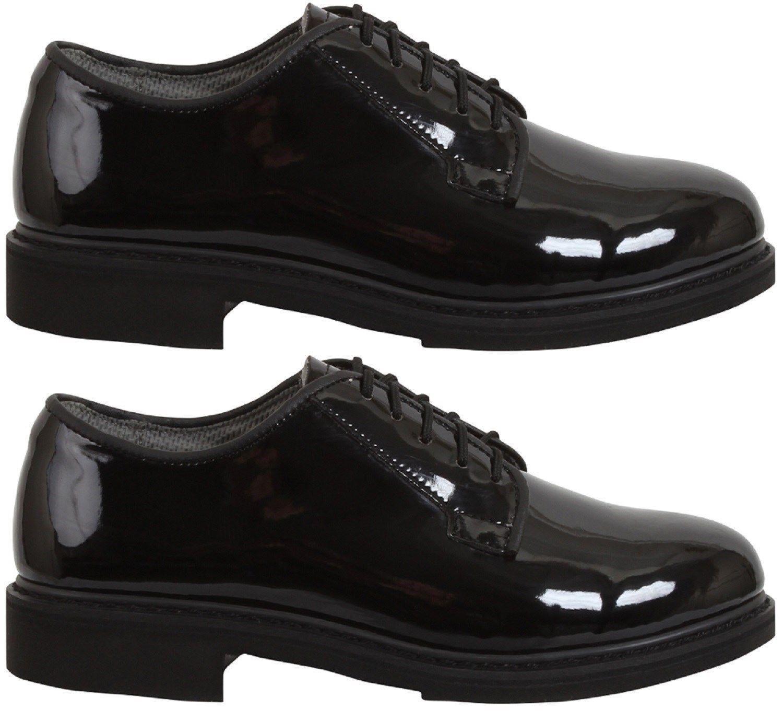 Oxford dress shoes uniform high gloss