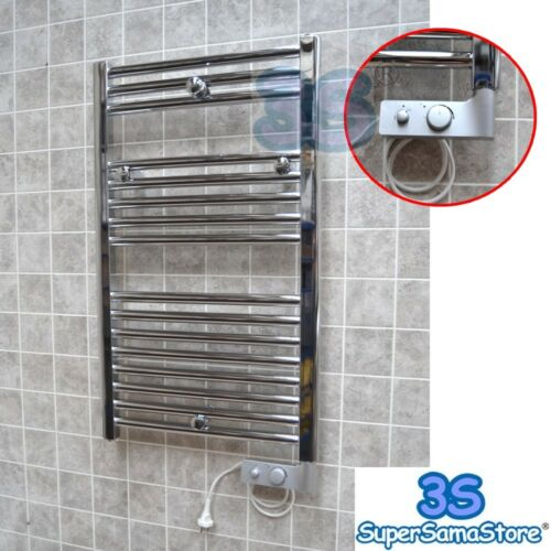 THERMOSTAT 3S Elektro Badheizkörper CHROM CORTINA elektrisch Handtuchheizung