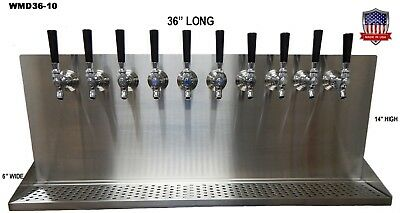 Wall Mount Beer Dispenser 10 Faucets Steel Draft Tower Made In Usa Wmd36 Ebay