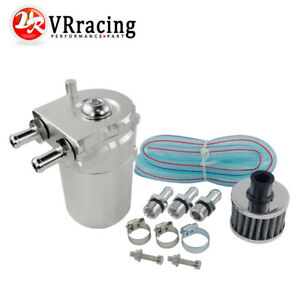 Universal Baffled Aluminum Oil Catch Can Reservoir Tank Oil Tank With Filter