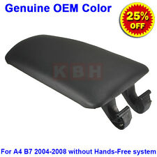 Leather Armrest Center Box Console Lid Cover for 2004-2008 Audi A4 S4 B7 Black