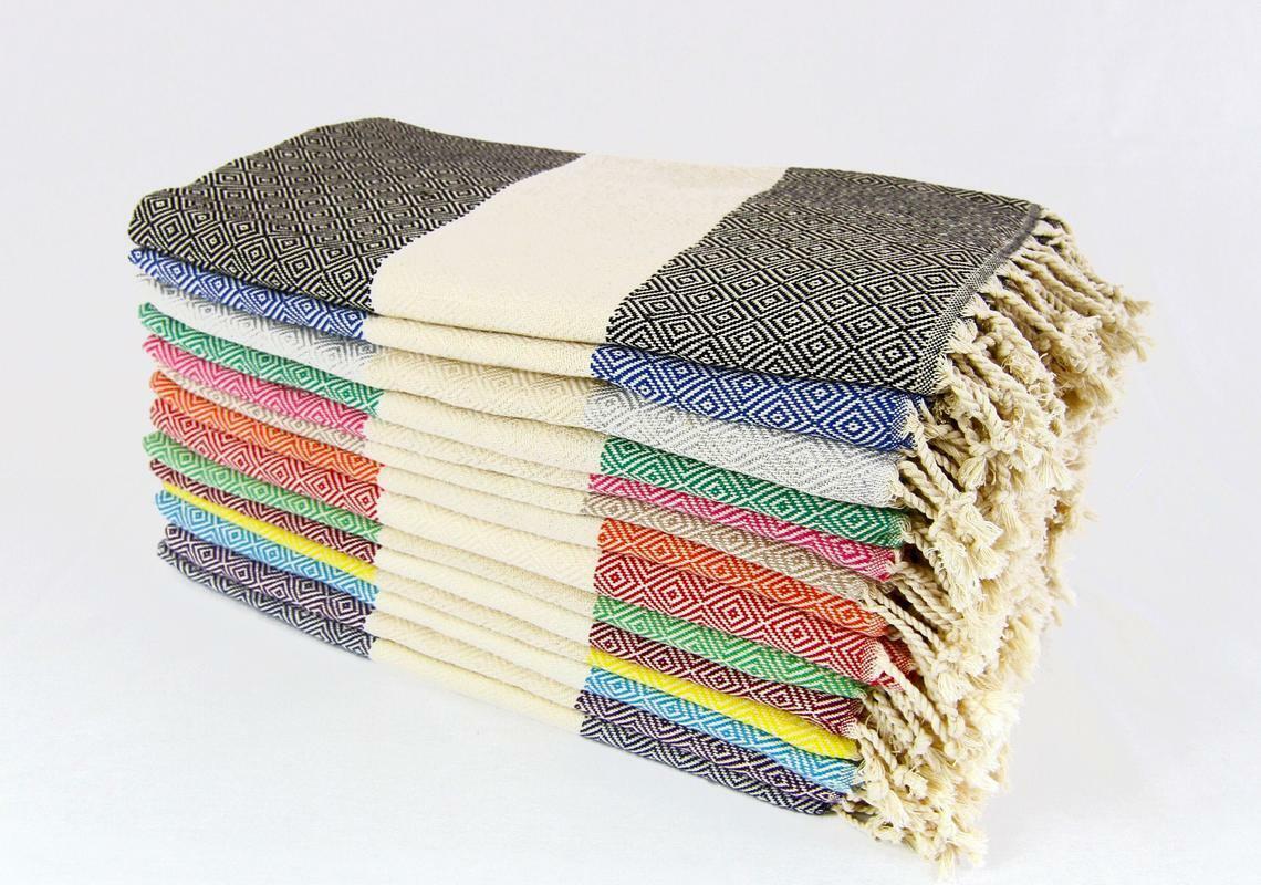 Set of 10 Turkish Towels  Turkish Blanket  Bulk Wedding Blanket Valentine Gift