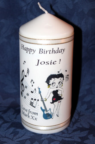 Betty Boop Birthday Candle Music note design own message by Cellini #10