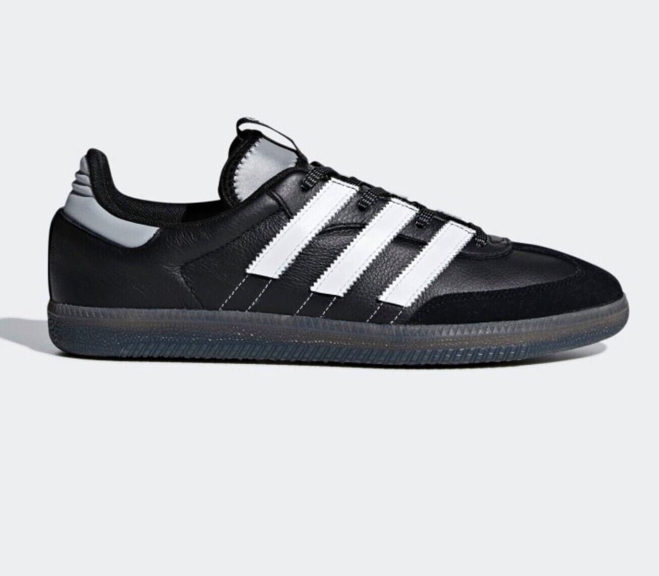 Adidas Samba og MS Entrenadores Talla 8 Negras blancoas Reflectante Nuevo Y En Caja