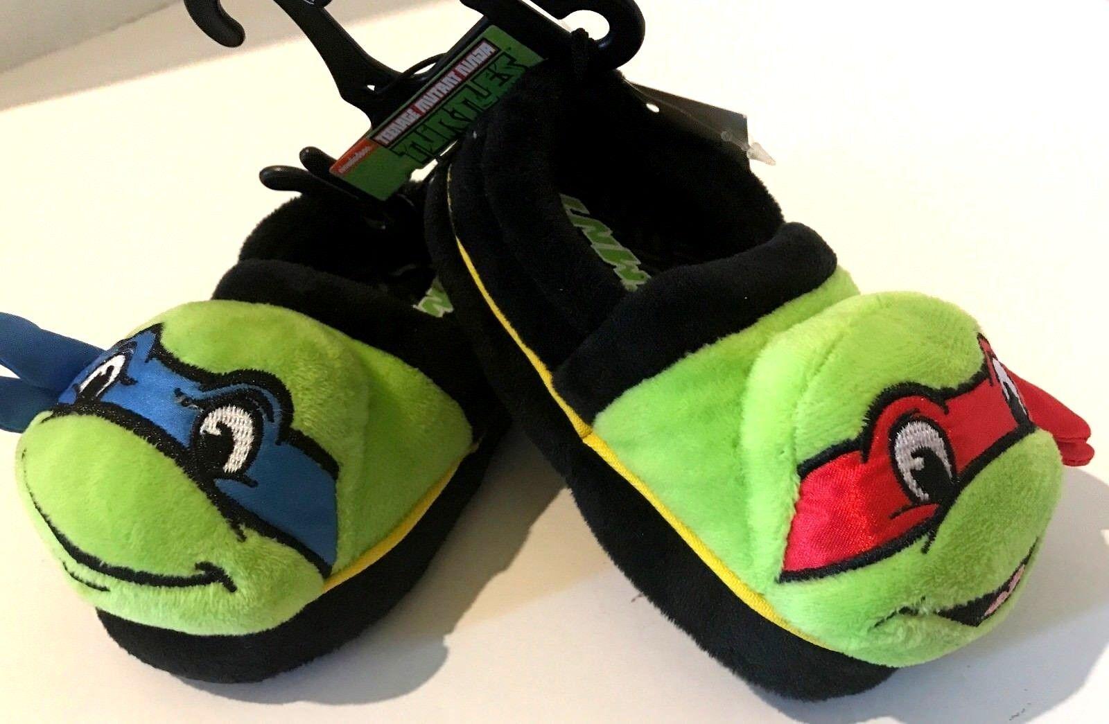 d1cfe74e768 Nickelodeon Boys Teenage Mutant Ninja Turtles Slippers TMNT Power ...