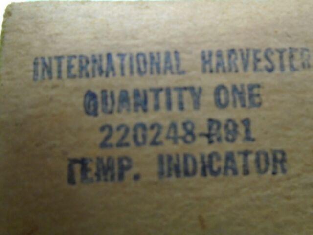 58-60 IHC International Harvester Travelall Travelette Pickup temp gauge NOS