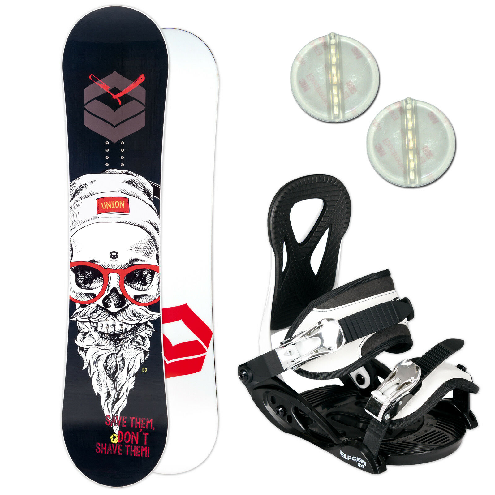 FTWO UNION KINDER SNOWBOARD SET  135 CM + ELFGEN JUNIOR BINDUNG + PAD