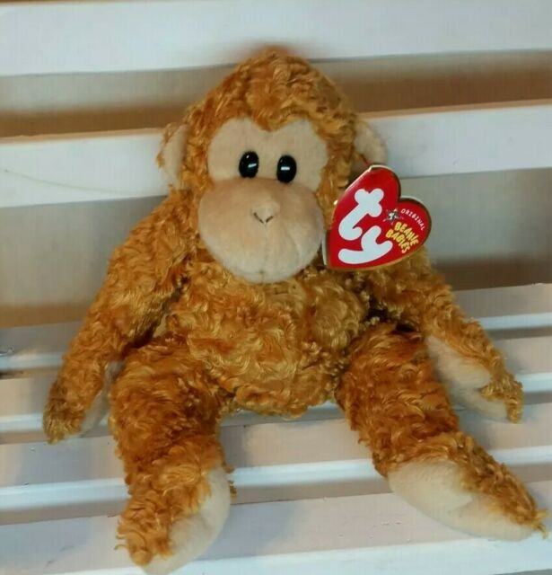 Ty Beanie Baby - FUMBLES the Monkey (8 Inch) NEW with tag protector