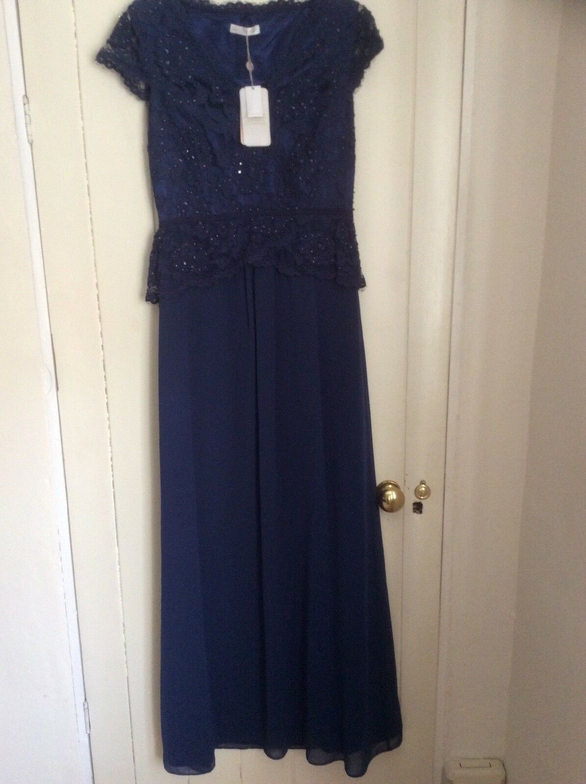 3e51ae80676e1d Jacques green Navy Beaded Bodice Evening Dress Size 8 Party Formal Evening  bluee nospoh21141-Dresses