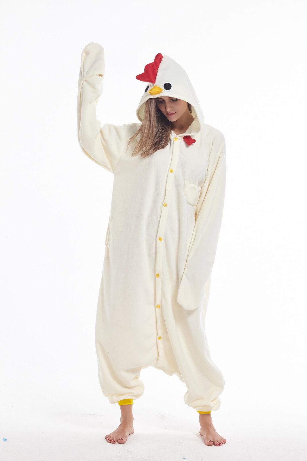 Chicken Adult Animal Cosplay Pajama Halloween Costume Kiguru