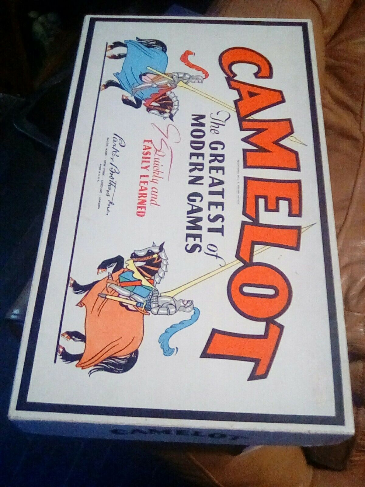 Camelot Board Game Vintage 1930 1931 Complete In Box Parker NM