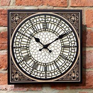 """little Ben"" British Design Outdoor Indoor Horloge Murale Jardin Affichage-afficher Le Titre D'origine Soyez Amical Lors De L'Utilisation"