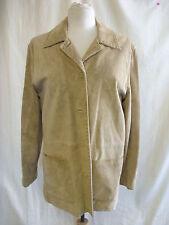 Ladies Jacket - Live a Little, size 1X, tan 100% suede, cowboy, button up - 0903