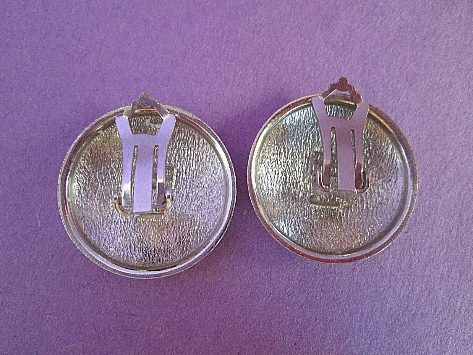 Lanvin Silver Tone Clip Earrings Germany Signed V… - image 3