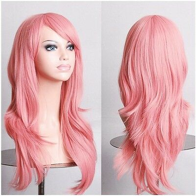 Vogue Blonde Red Pink Cosplay Full Wig Ladies Party Full Bang Wigs USA Stock g3